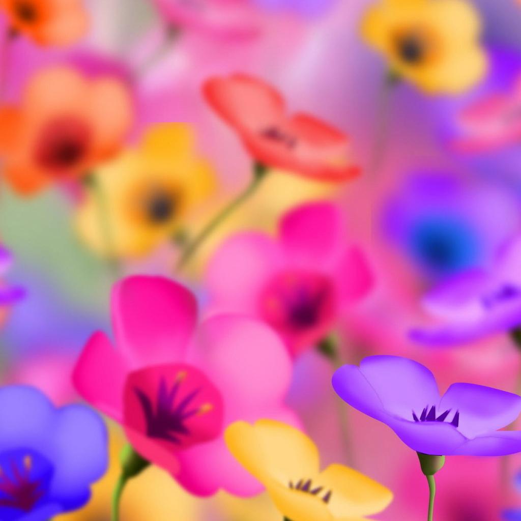 Cute Colorful Iphone Wallpaper: Bright Florets Desktop Wallpapers 1024x1024
