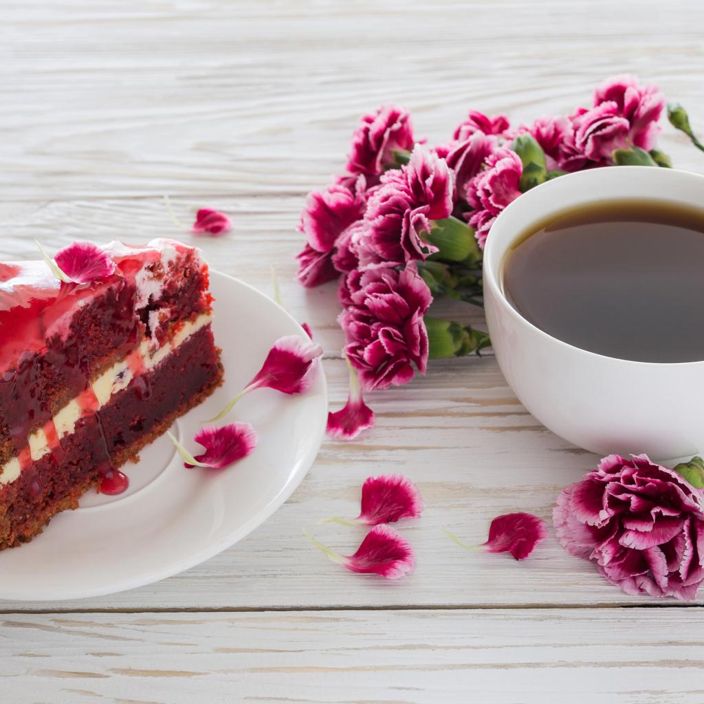 Открытки чашка кофе с пирожным, картинки телефон открытки