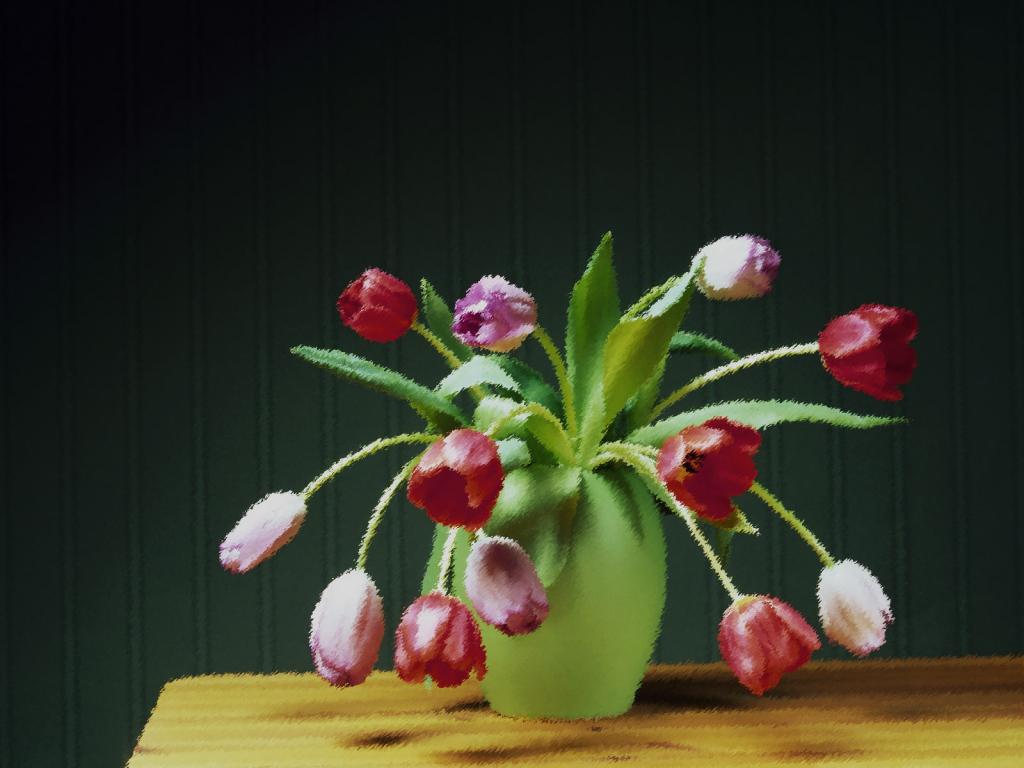 Картинки цветов в вазе нарисованные 5