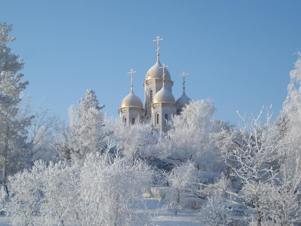 Храм зимой картинки 2