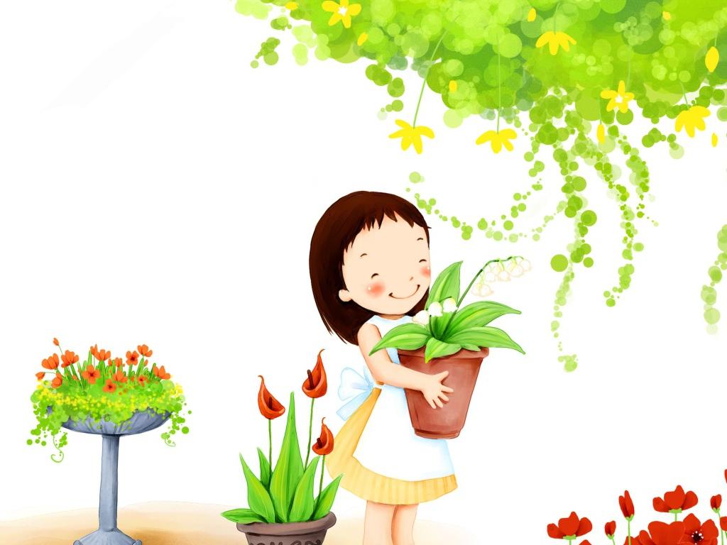 Дети сажают цветы картинки 7