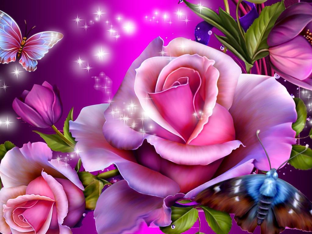 Картинки с днем рождения сказочные цветы