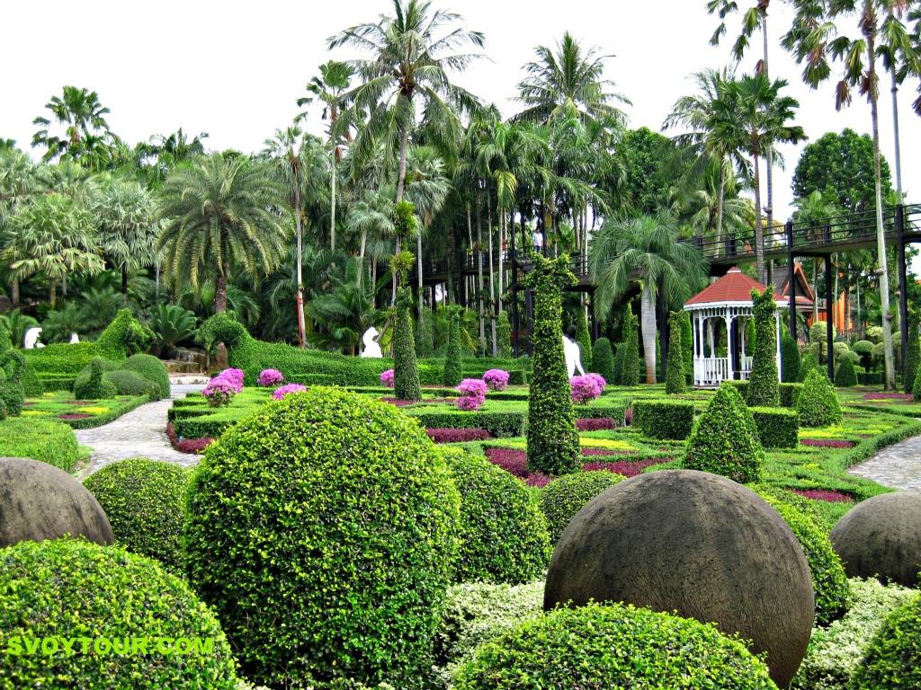 Ботанический сад нонг нуч на курорте в