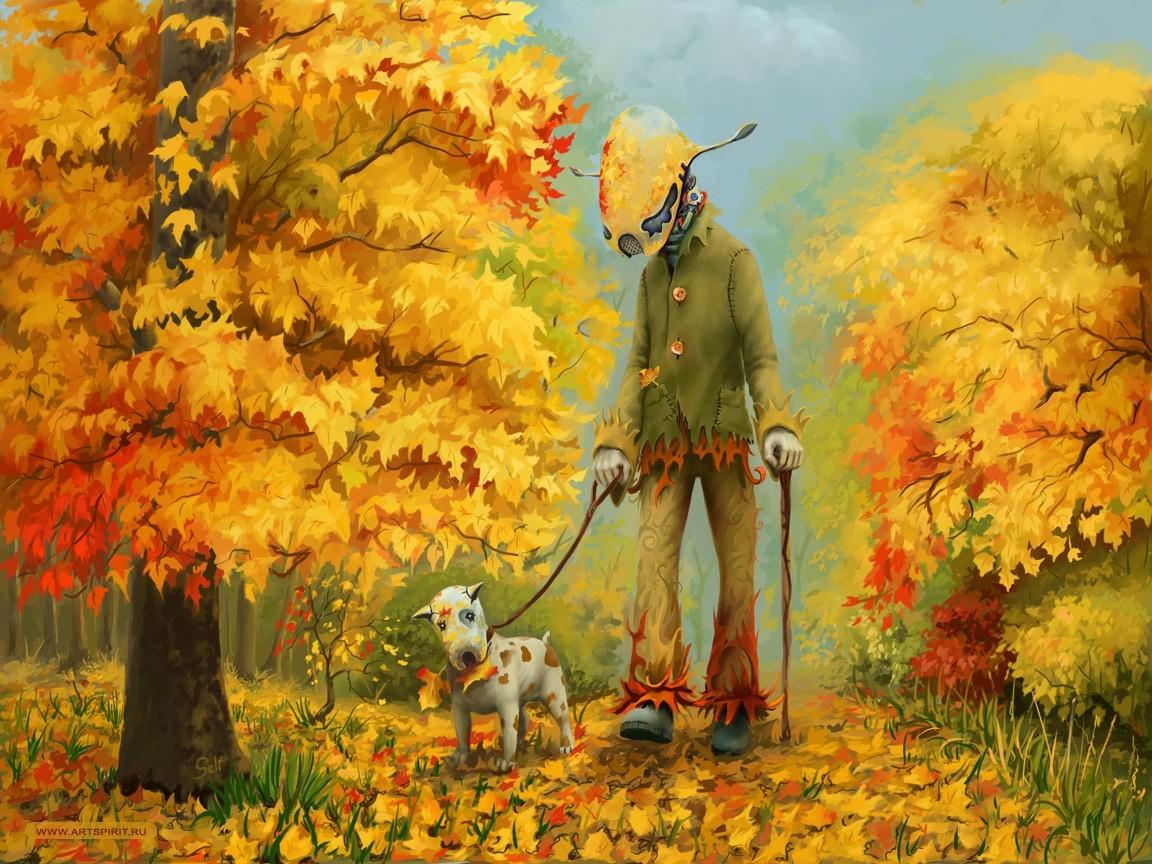 Днем, осень крутые рисунки