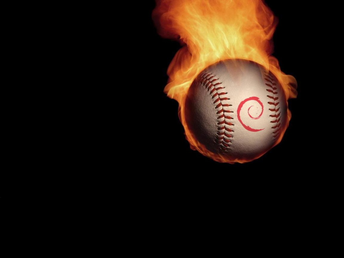 Tennis Ball Of Fire Desktop Wallpapers 1152x864