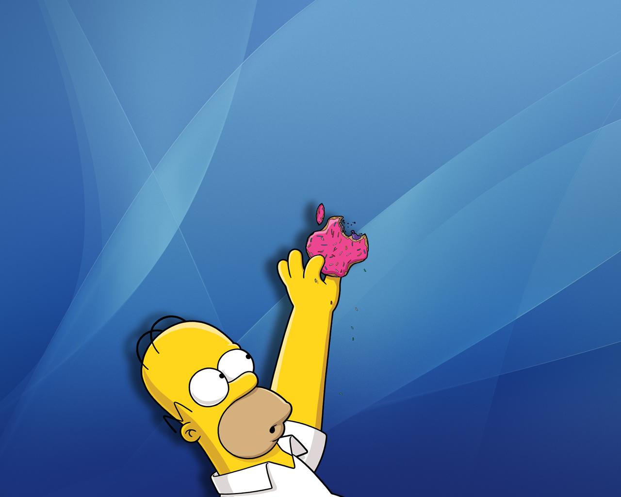 Simpson and apple desktop wallpapers 1280x1024
