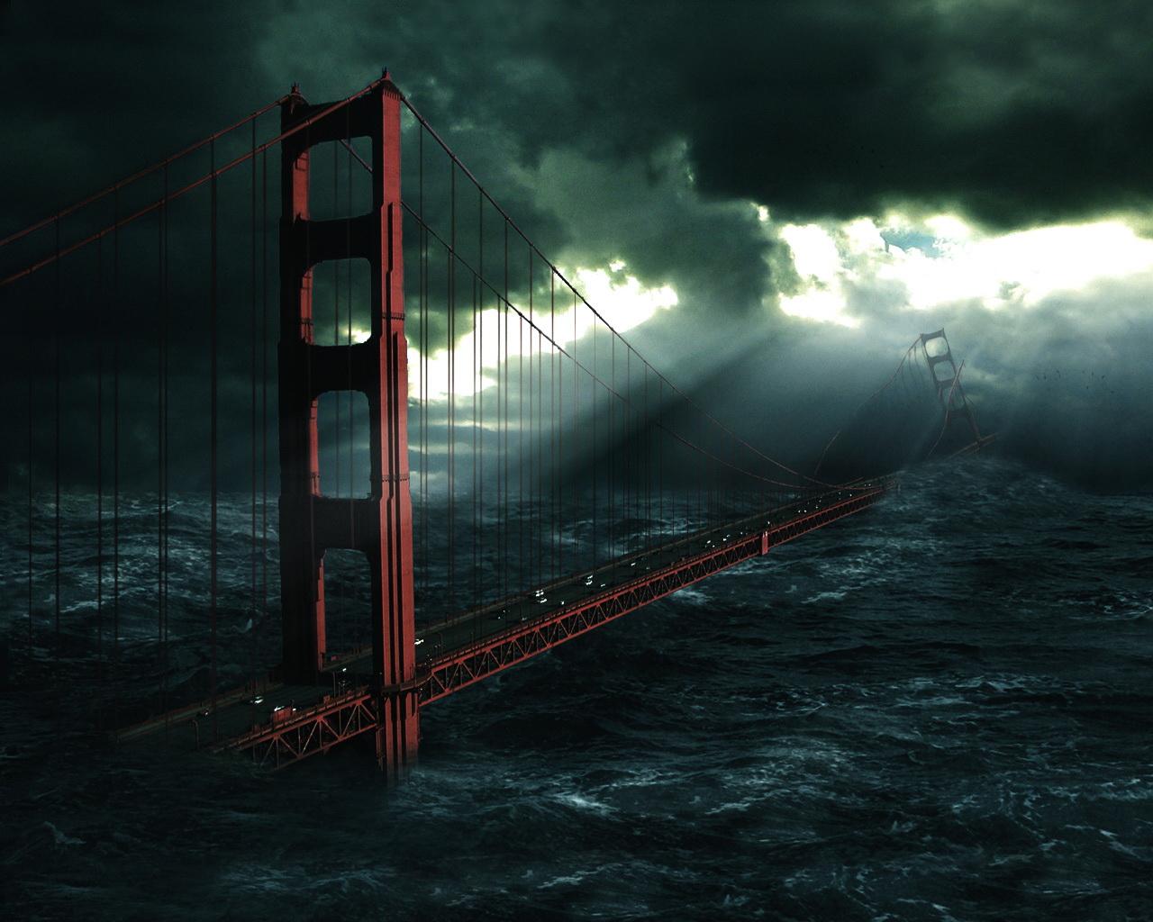 Desktop wallpapers » Creative Wallpaper » Flood in Los Angeles ...