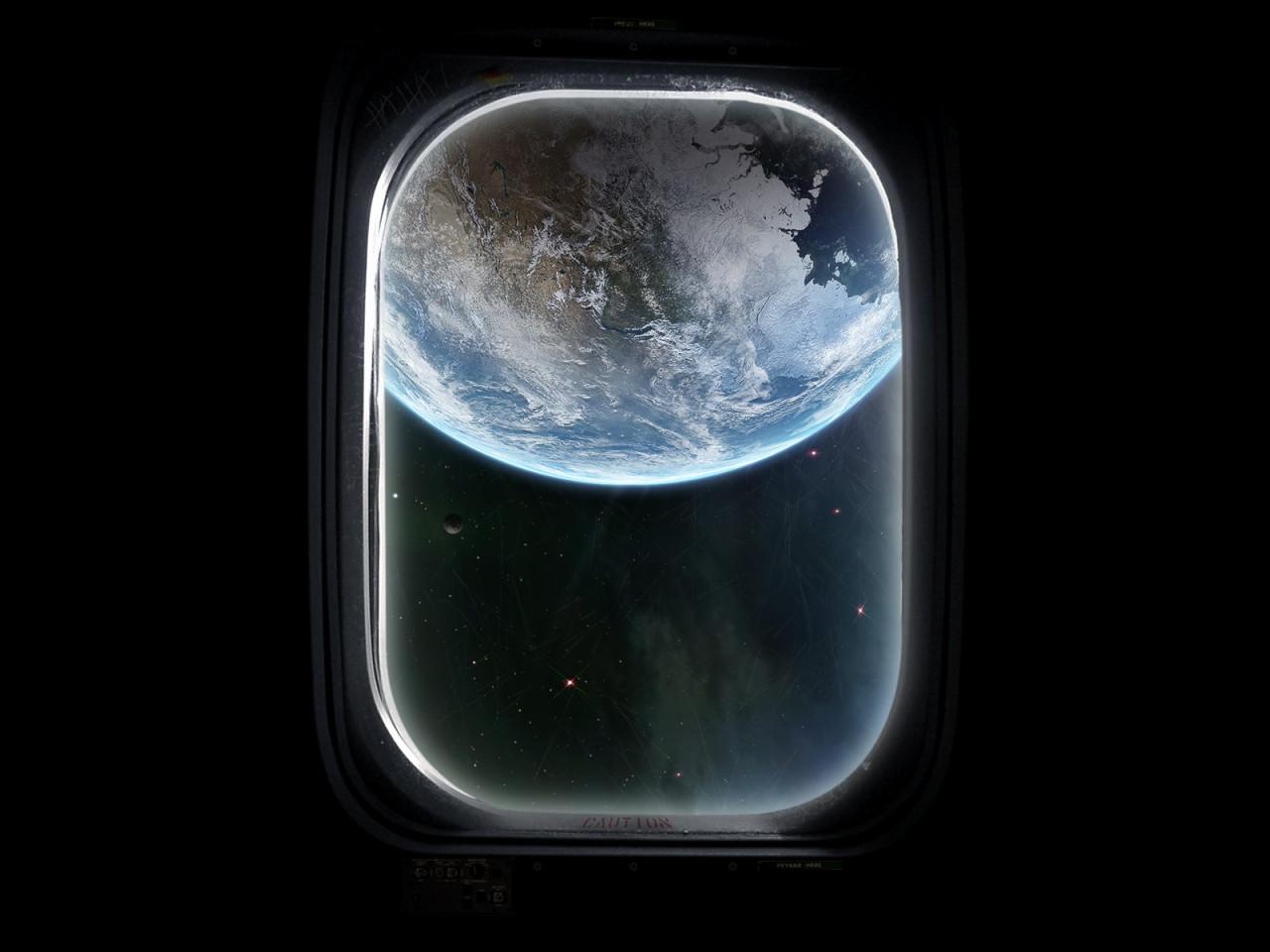 Земля в иллюминаторе обои для