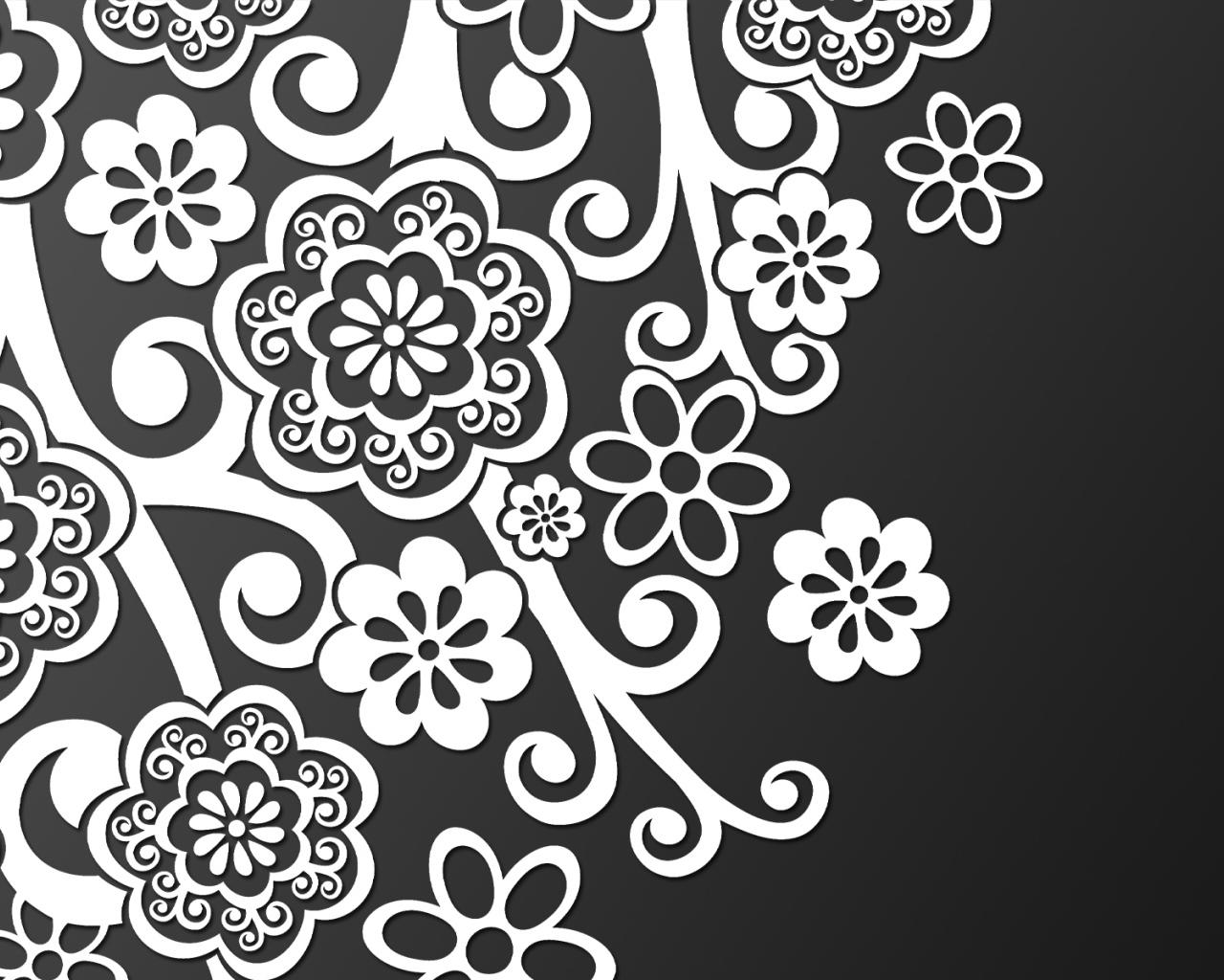Узоры для открыток черно-белые