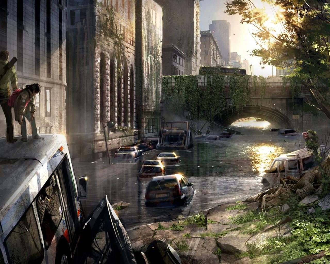 The Last Of Us Empty City Desktop Wallpapers 1280x1024