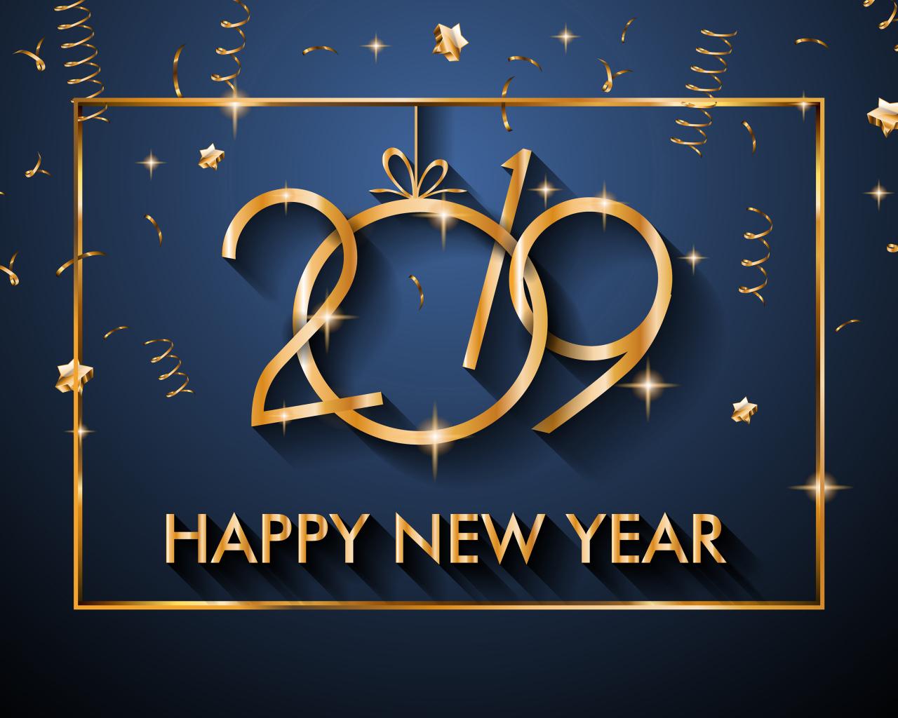 Happy New Year 2019 Desktop wallpapers 1280x1024