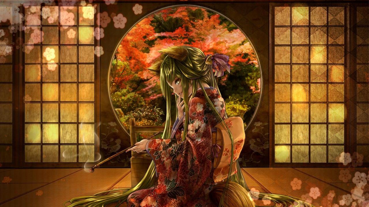 Горящая девушка аниме фото 459-504