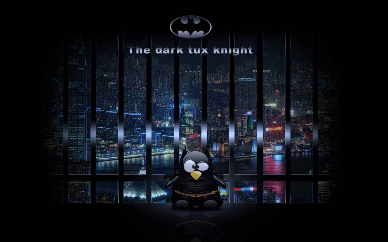 Dark Knight Linux Desktop Wallpapers 1280x800