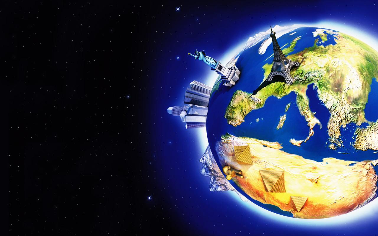 Планета земля обои для рабочего стола