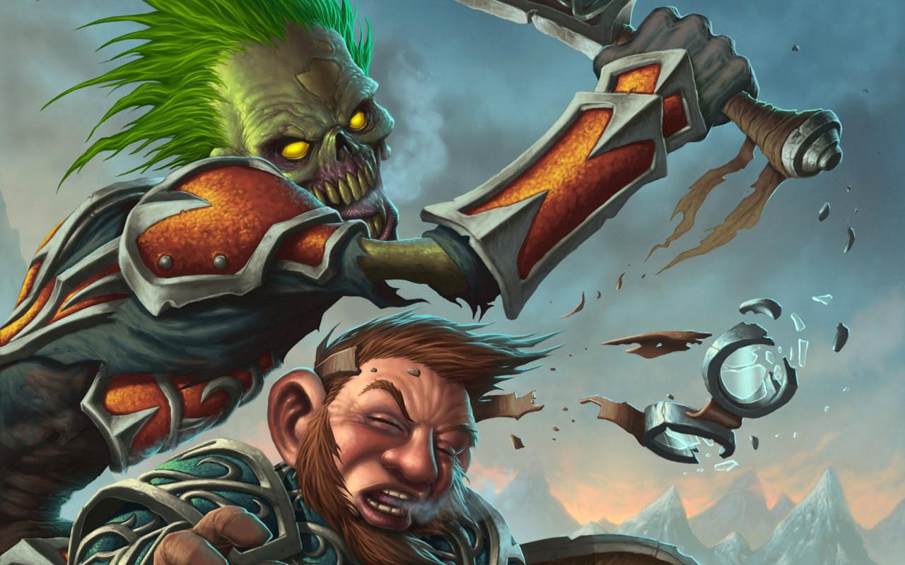 Fantasy - gnome & warrior of darkness wallpaper