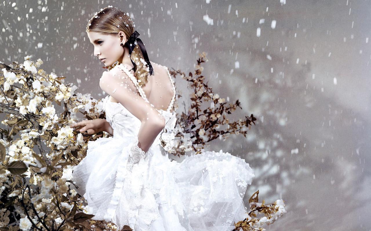 Обои девушки молодая невеста