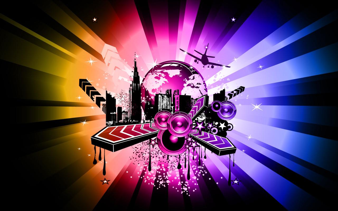 Wallpapers Hd 3d Music: Music City Desktop Wallpapers 1280x800