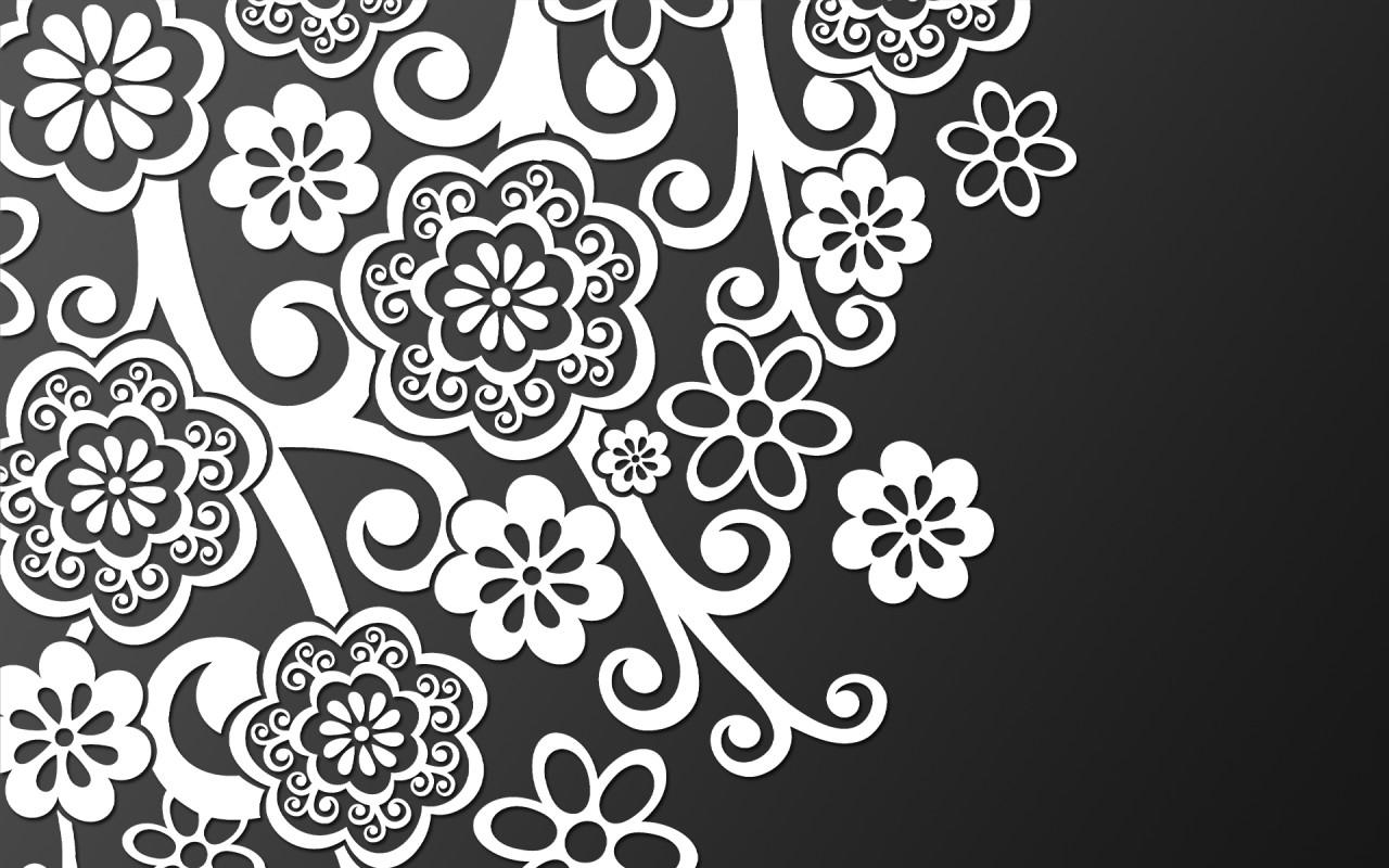 Картинки на рабочий стол 3D-graphics_White_pattern_on_black_026488_
