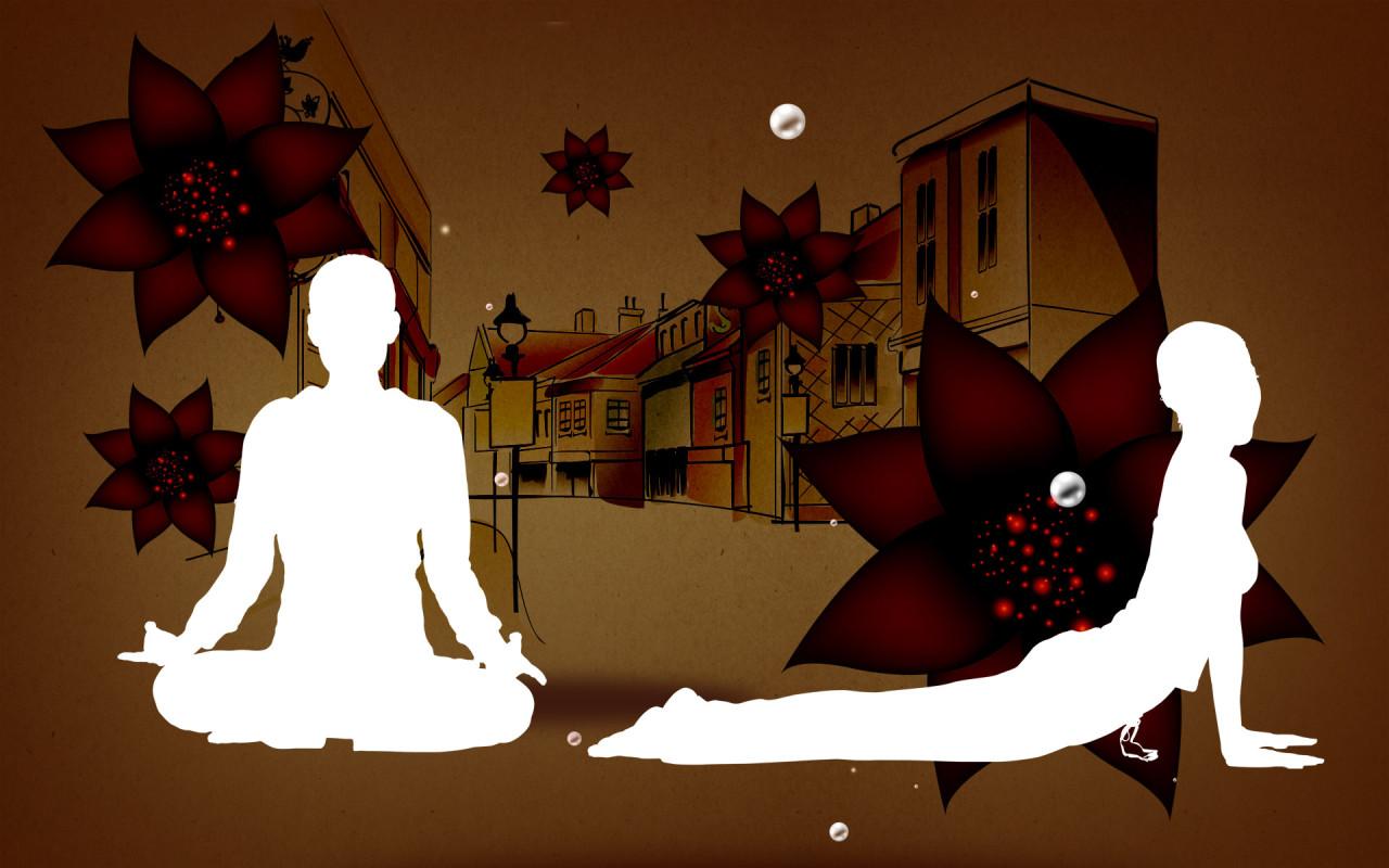 Previous, Creative Wallpaper - Yoga wallpaper