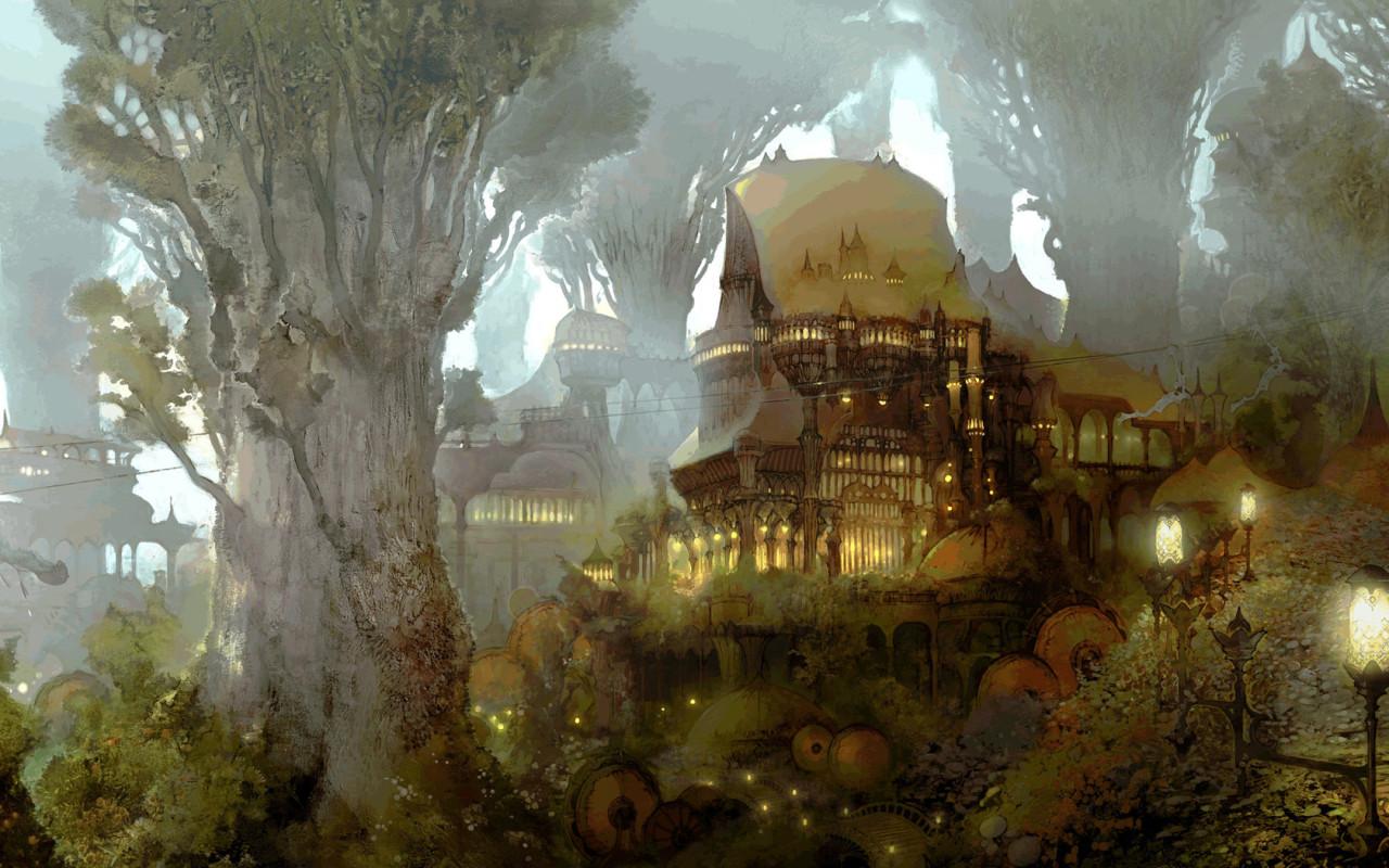 Обои фэнтези эльфийский лес