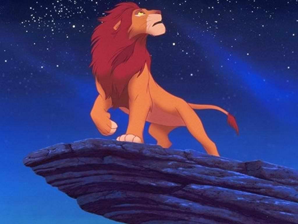 пойдет картинка короля льва на скале красавец-спортсмен