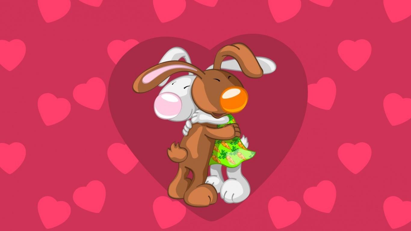 Для, открытка с обнимашками и сердечками любимому