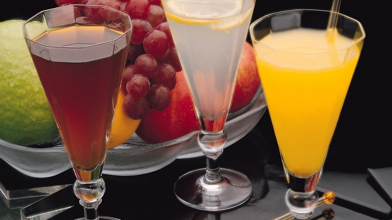 Обои фруктовые напитки