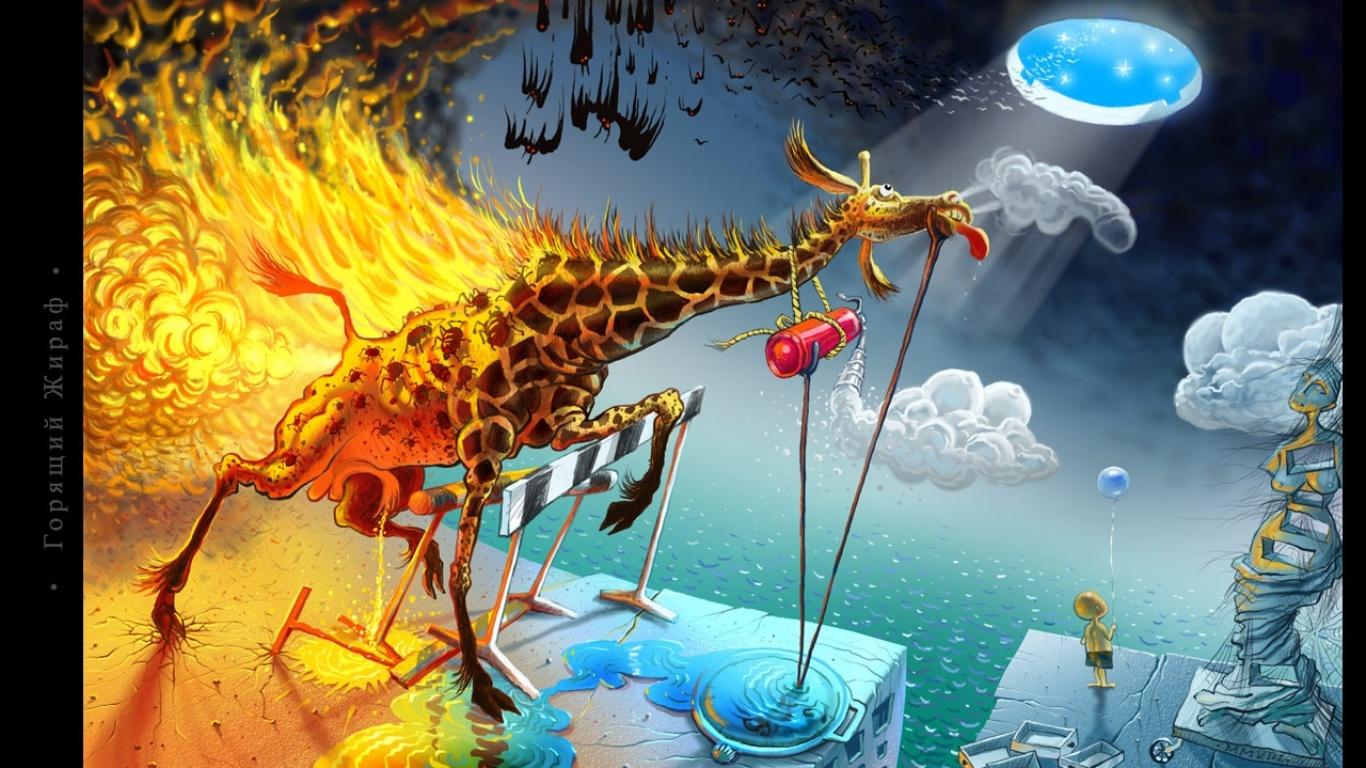 Most Inspiring Wallpaper Colorful Giraffe - Creative_Wallpaper_Burning_Giraffe_034499_  Pic_339962 .jpg