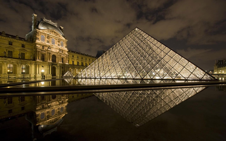 Лувр париж обои для рабочего стола