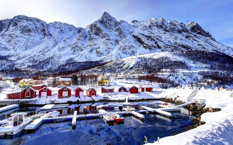 Fishing Village In Norway Desktop Wallpapers 1440x900