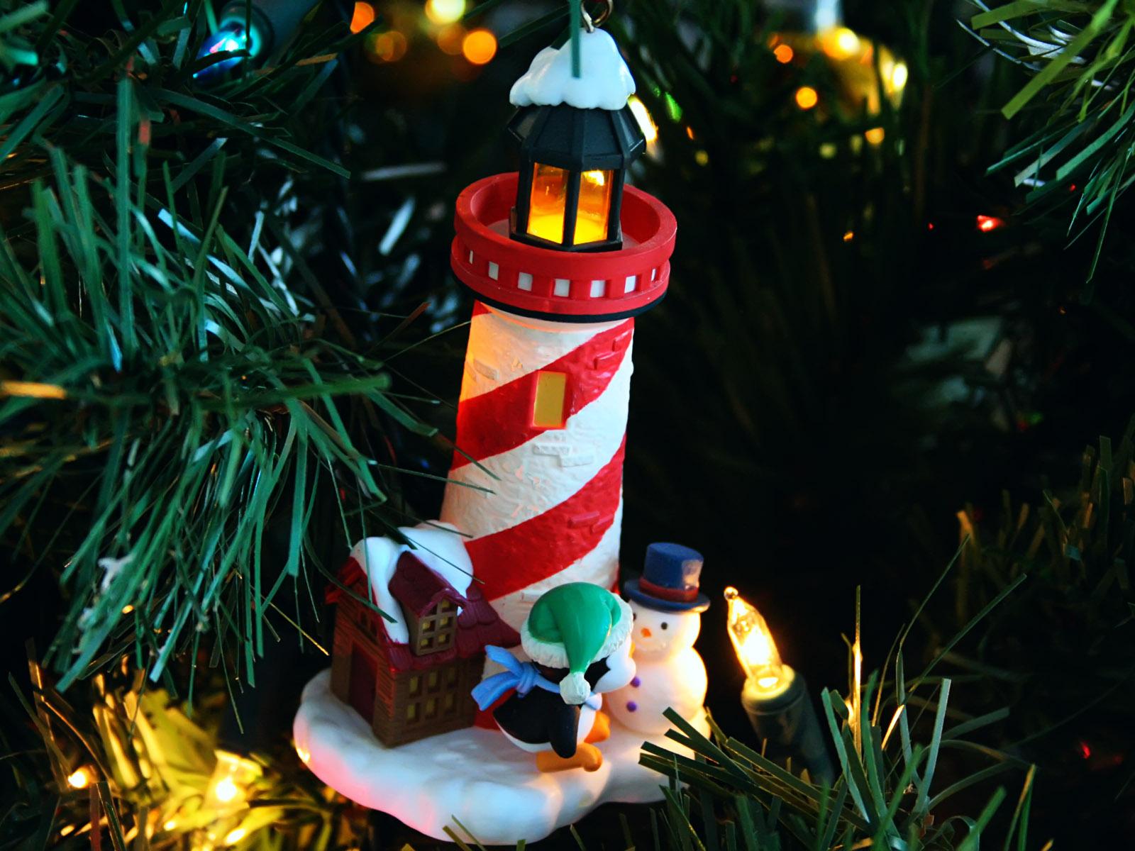 Christmas Lighthouses Wallpaper Lighthouse / Christmas