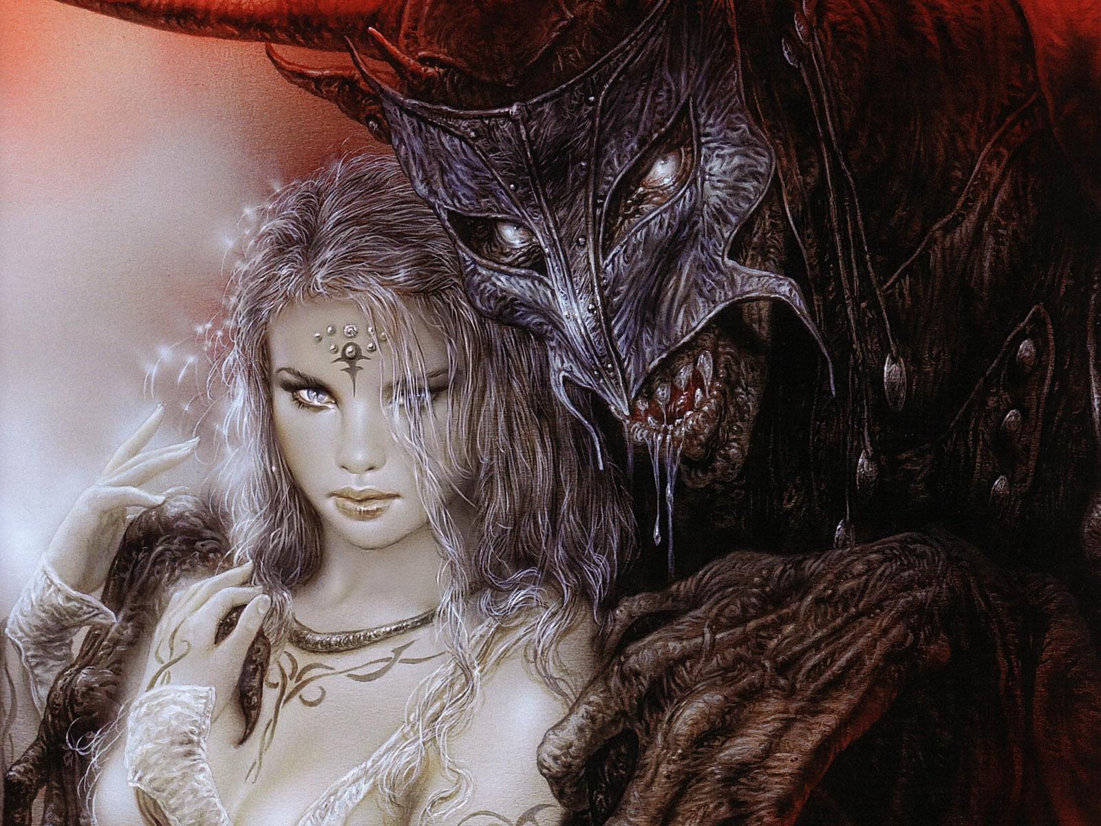 Картинки с демоном и девушкой