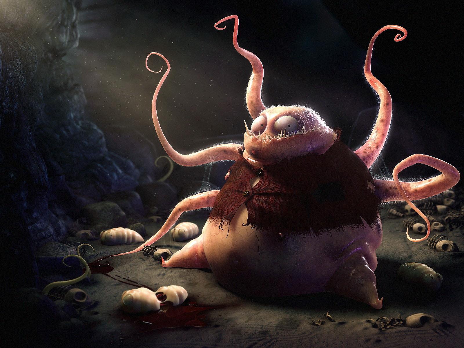 3d monster toon fantasy naked photo