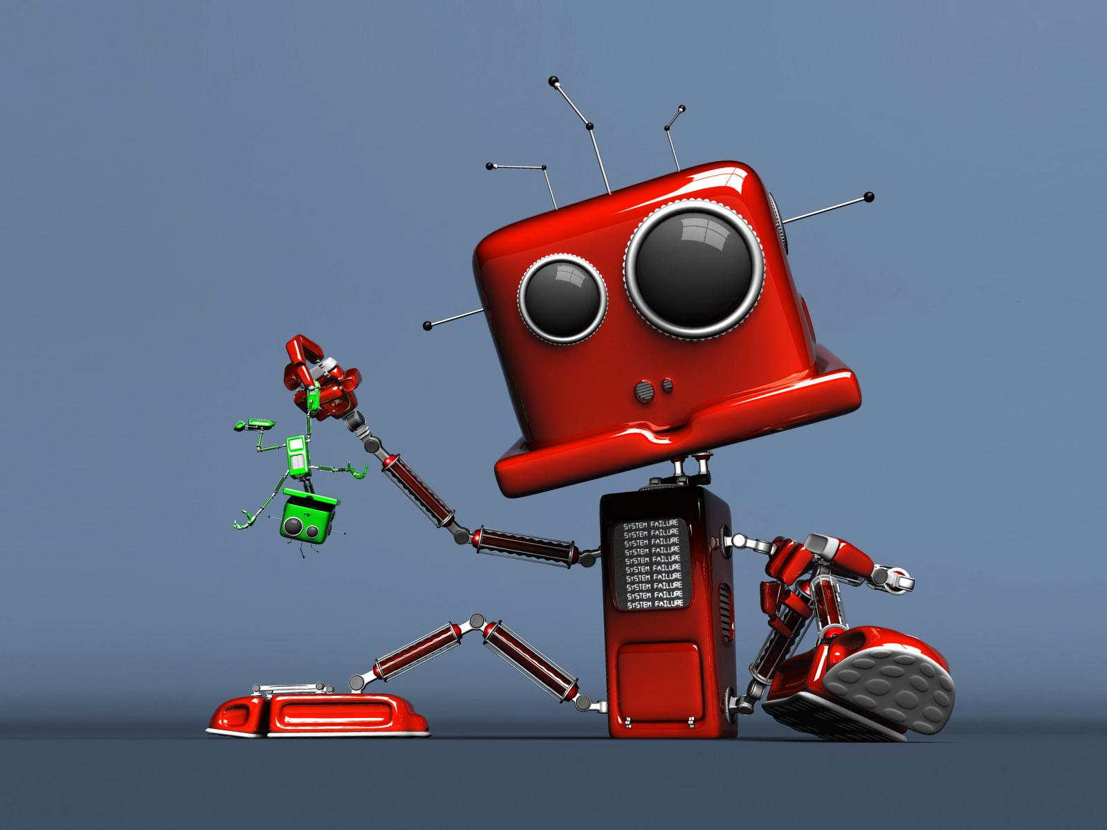 фото картинки роботов смешных ней там