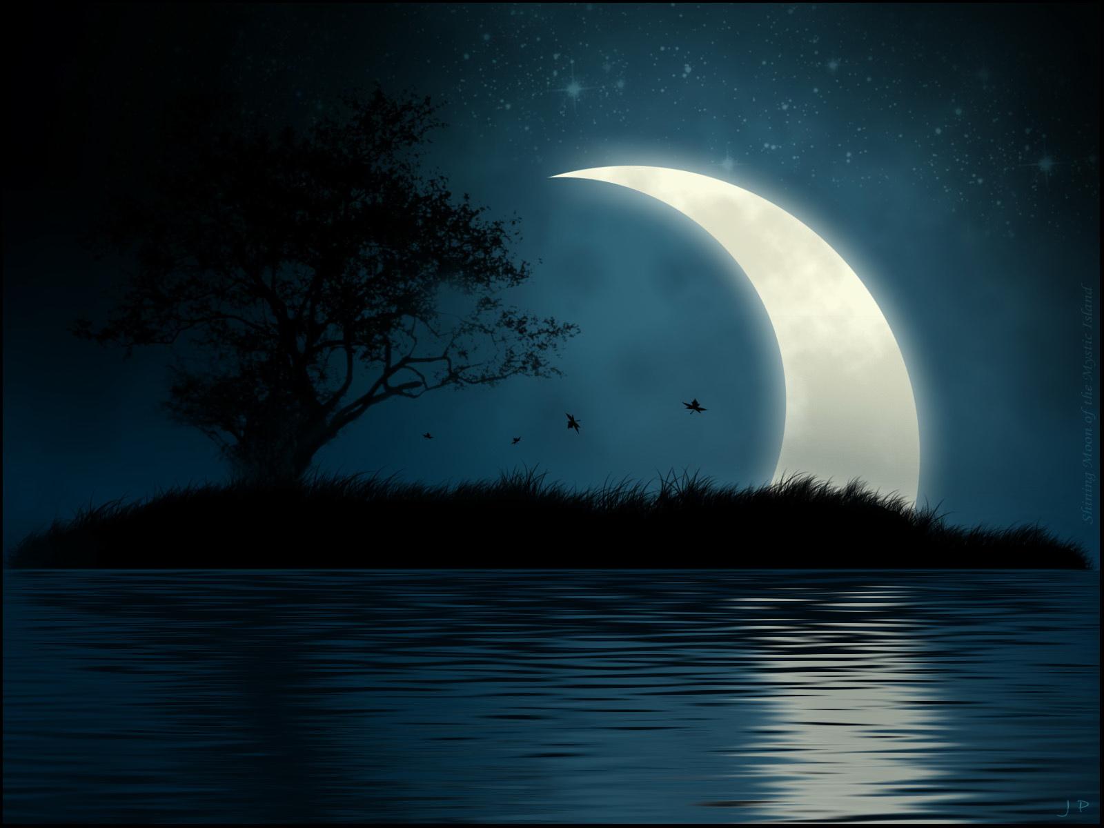 Для мамы, картинки ночка лунная