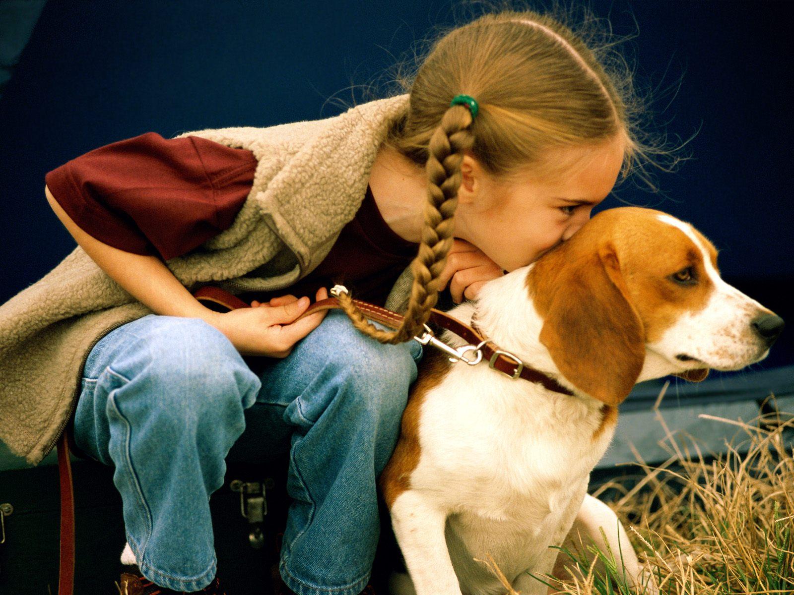 Собака девочка картинки