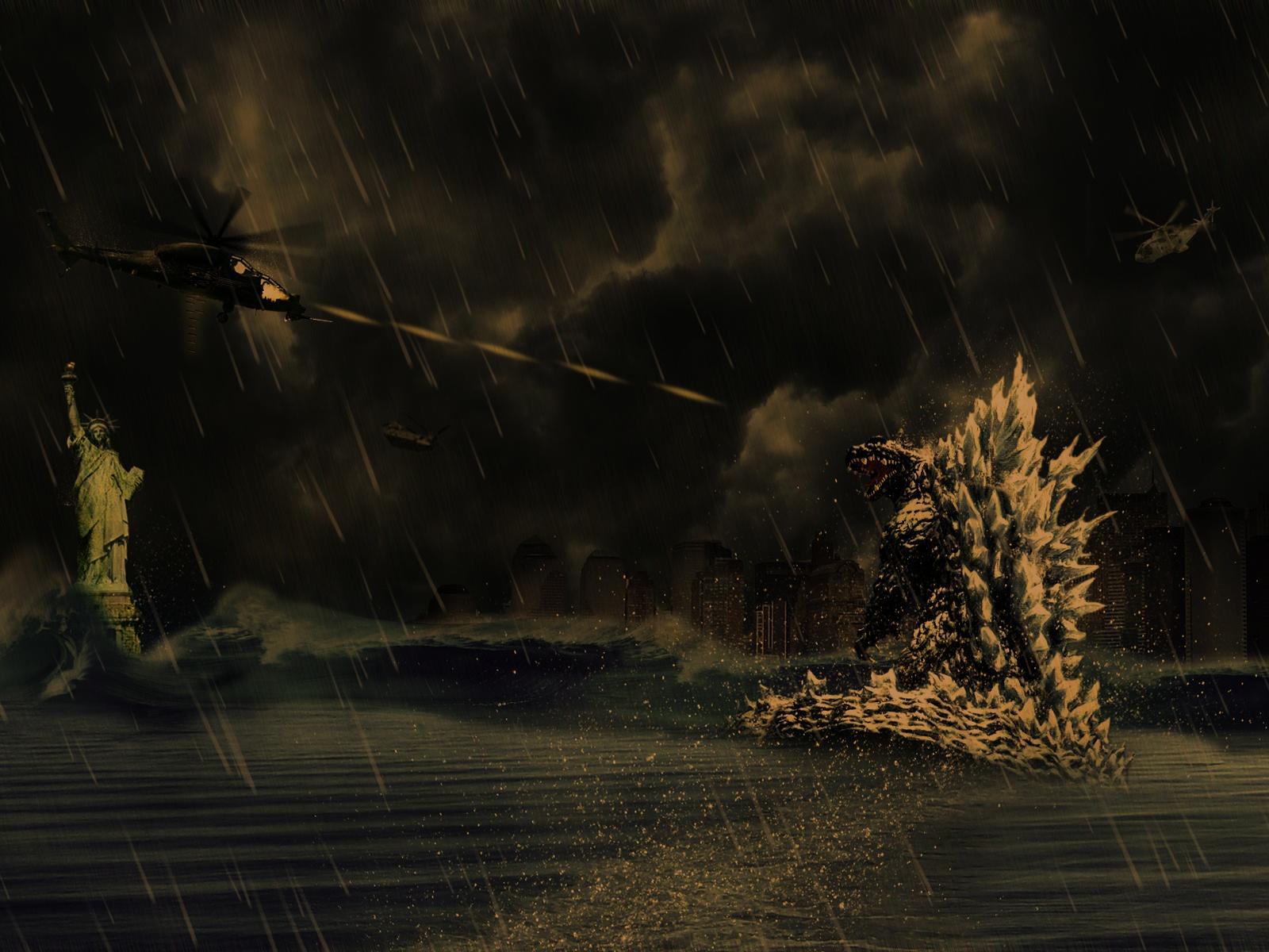 Previous, Drawn wallpapers - Godzilla wallpaper