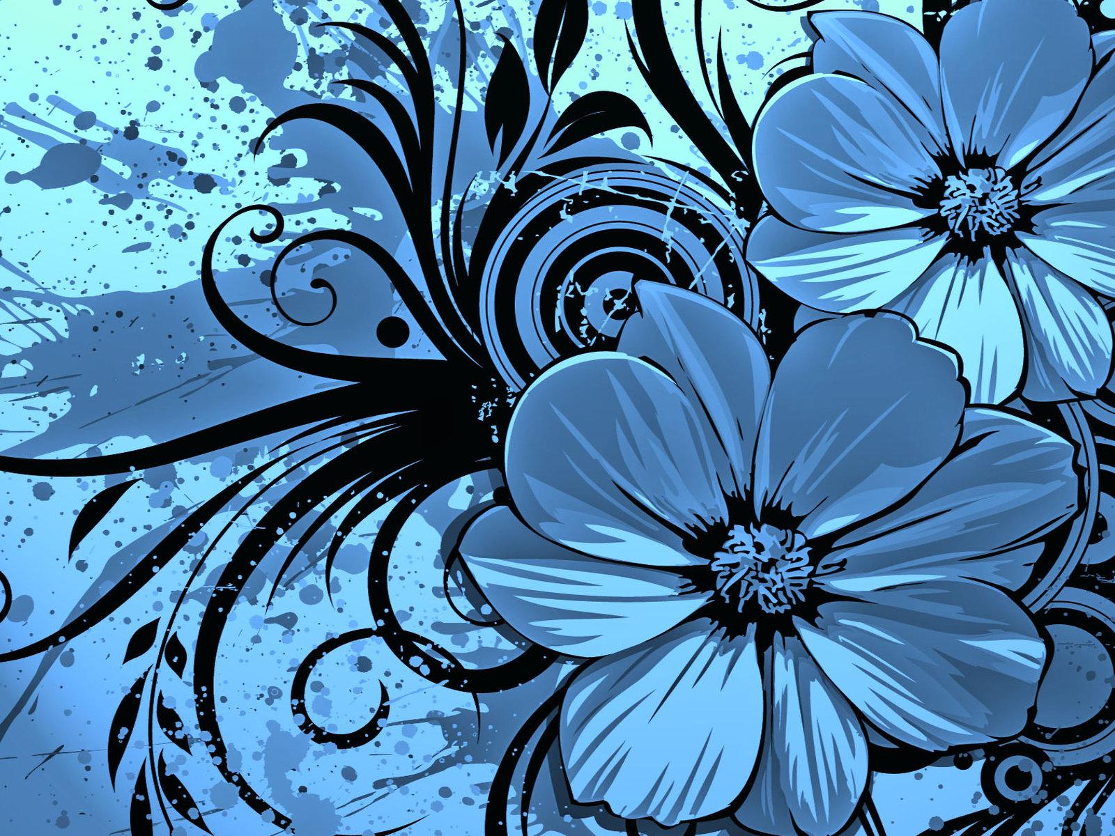 Dark Blue And White Flowers: 【壁紙】 美麗な おしゃれ壁紙 【1600x1200】 : 【壁紙】 オシャレな壁紙 【美しい壁紙】