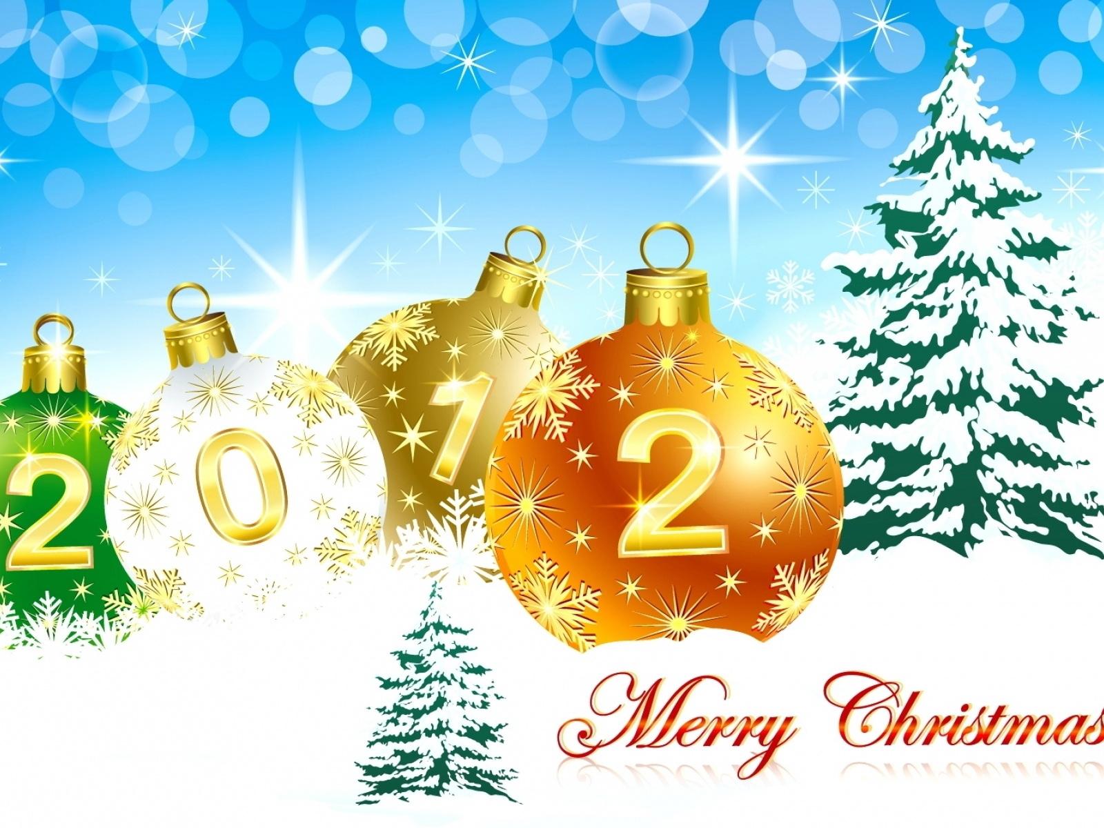 sparkling christmas 2012 wallpaper - Christmas 2012