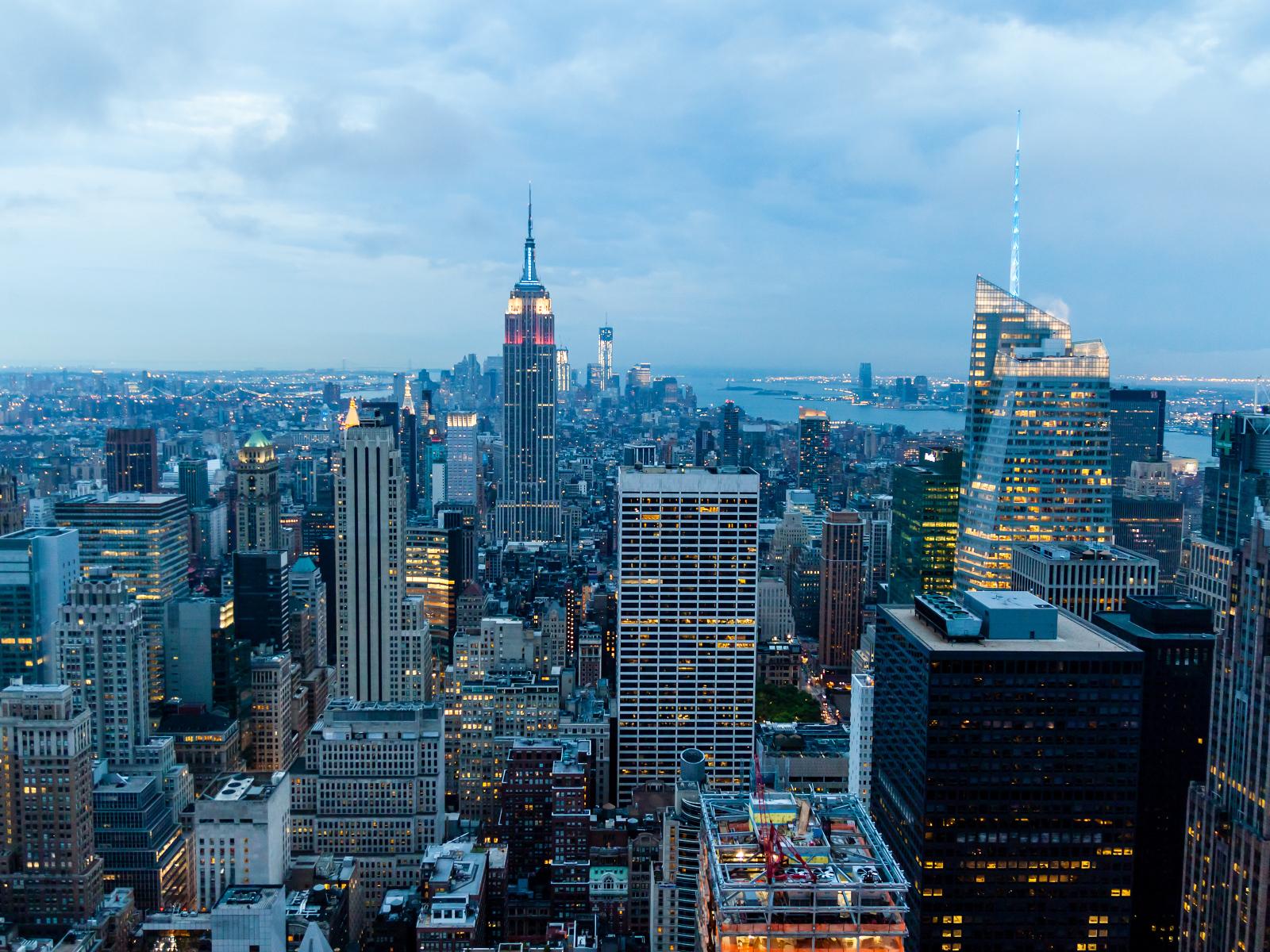 Manhattan After Sunset New York Desktop Wallpapers 1600x1200