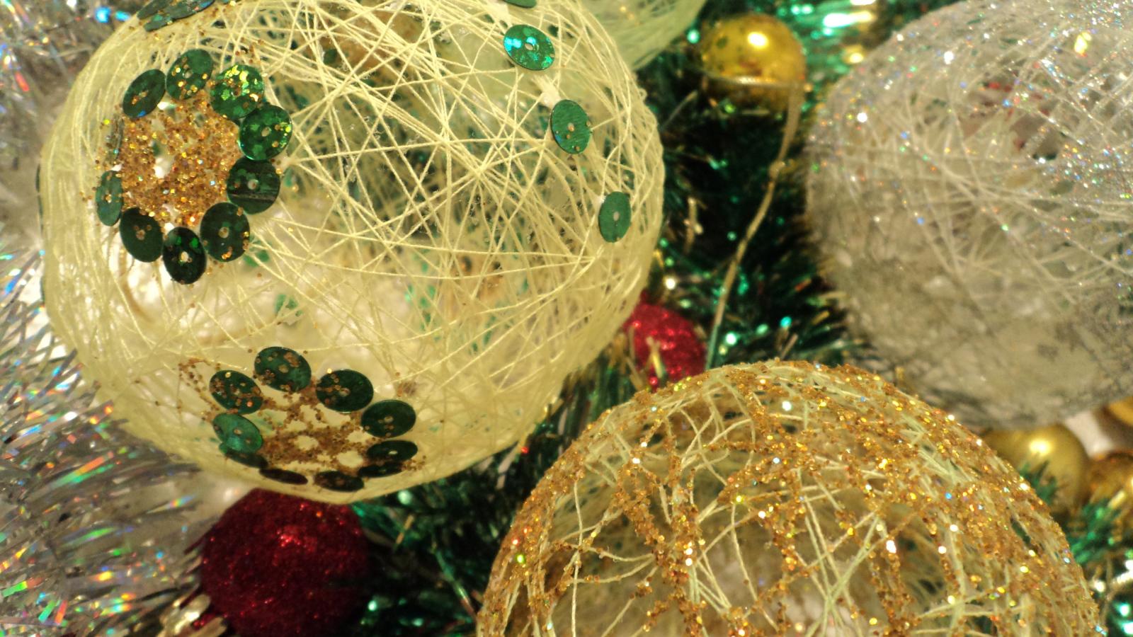 Игрушка своими руками новогодний шар