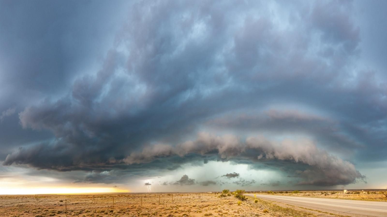Desert Storm New Mexico Usa Desktop Wallpapers 1600x900