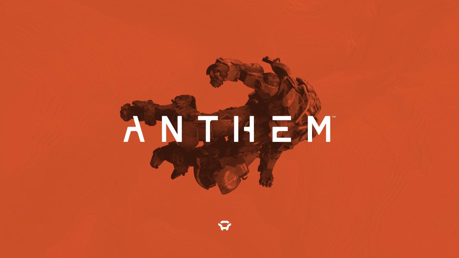2019Games Logo computer game Anthem  2019 on an orange background 133734 25