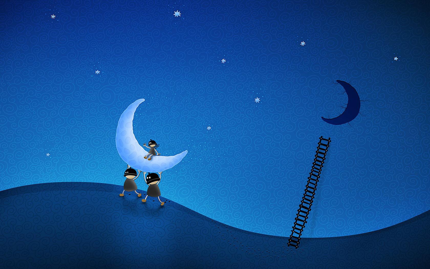 Прикольные картинки на тему ночь, анимация графика прикольные