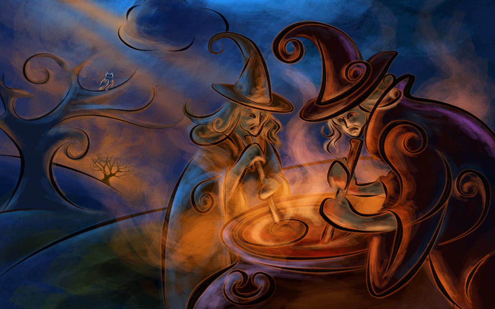 Halloween / Witch Witchcraft Desktop wallpapers 1680x1050