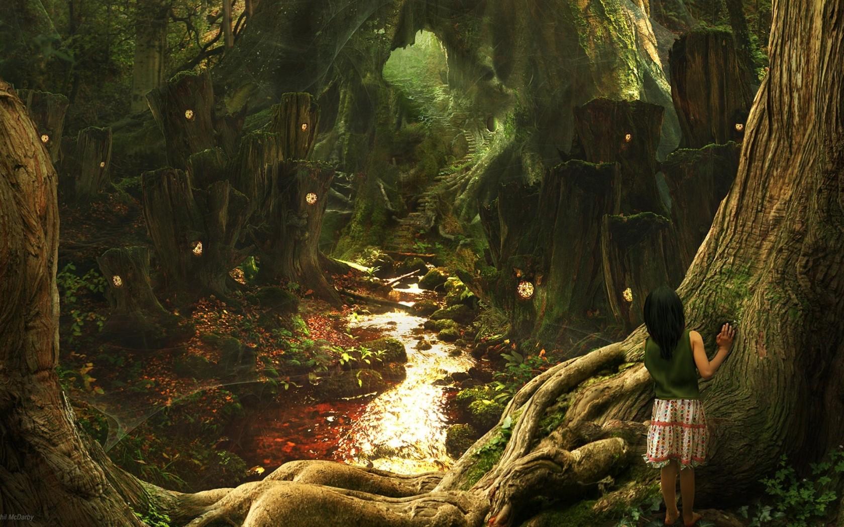 Сказочный лес обои для рабочего стола