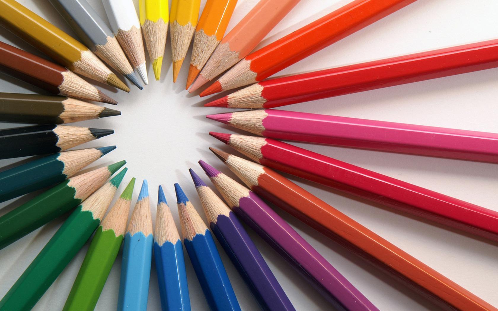 Coloured Pencils Wallpaper Multi-coloured Pencils