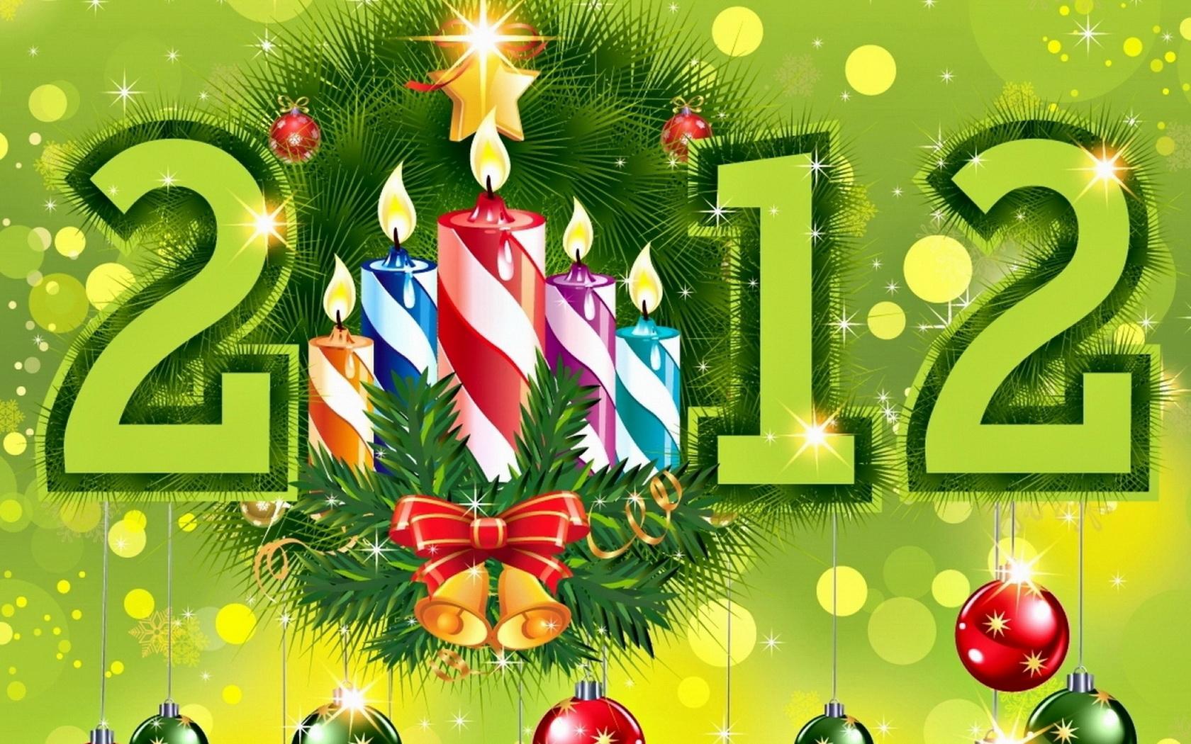 Новогодняя открытки 2012, фото картинки