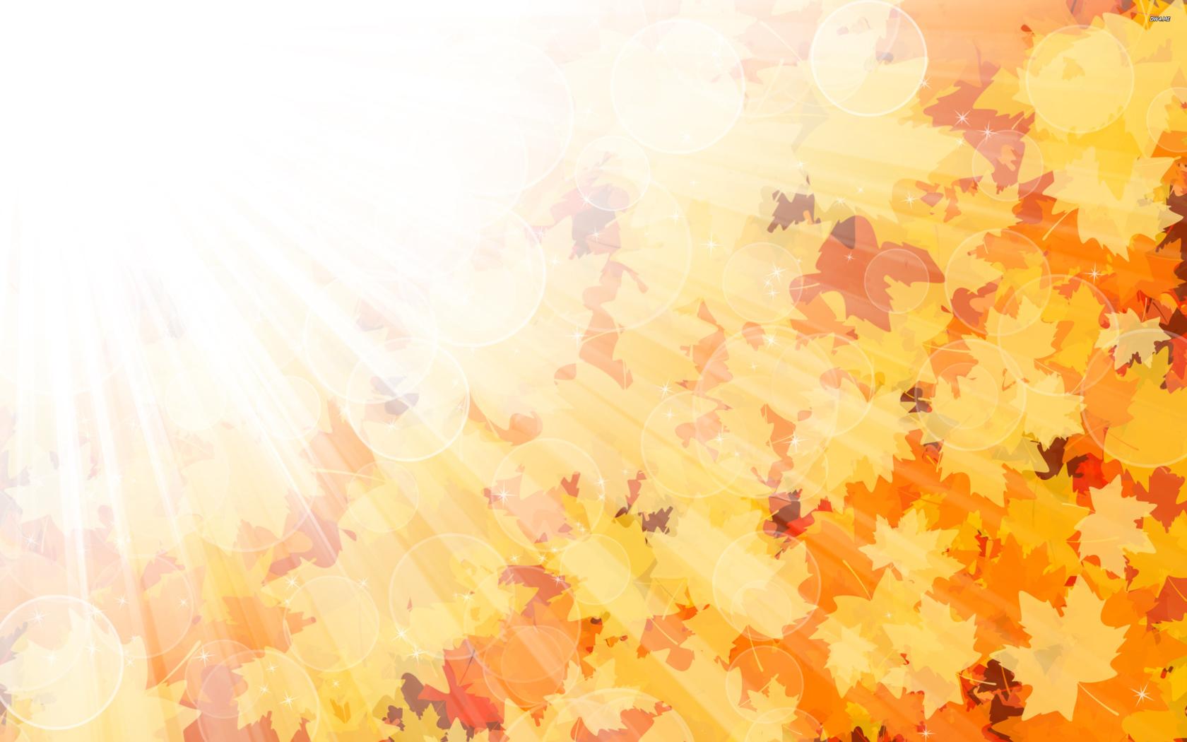 Открытка фон осень, разбитой