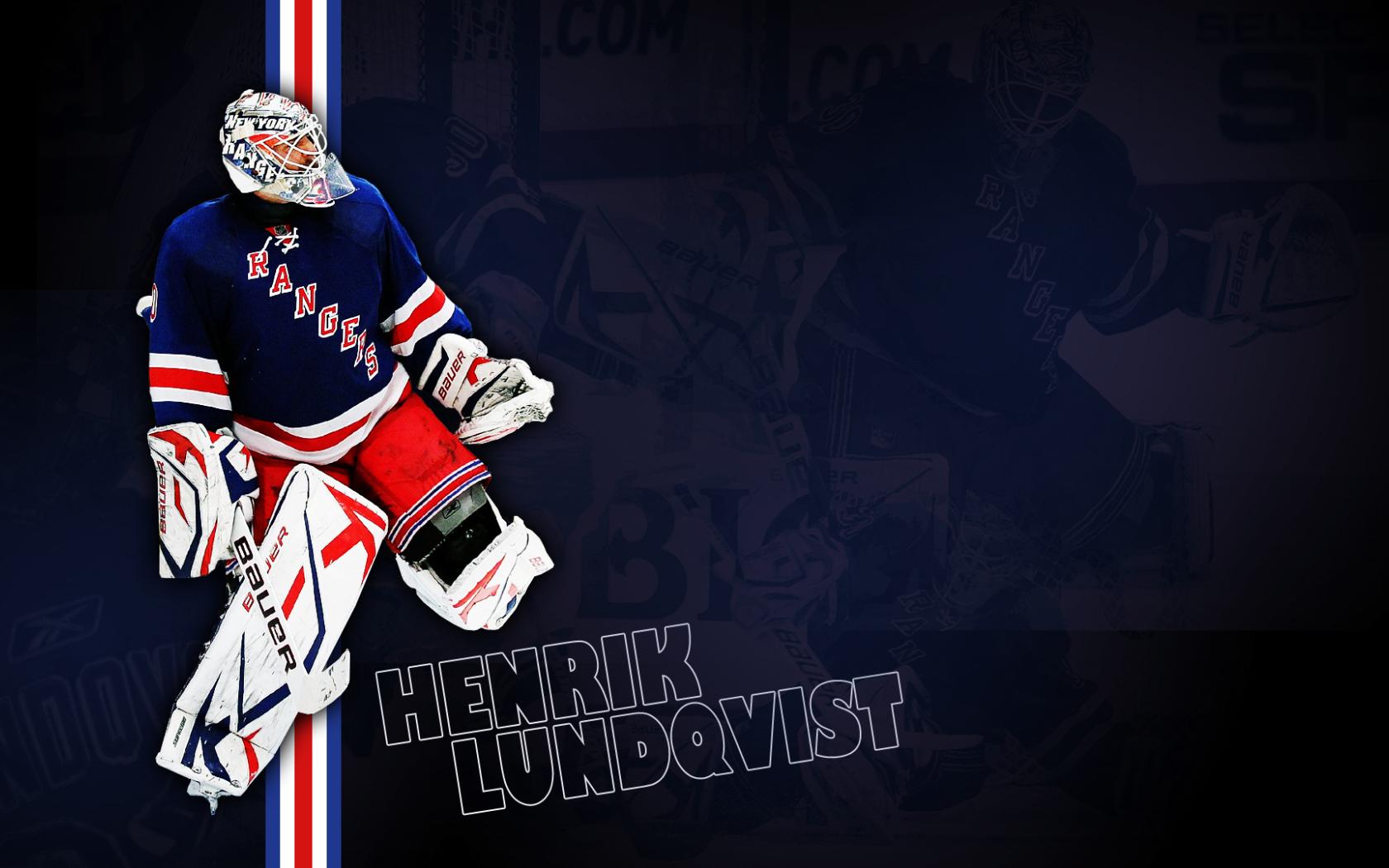 Goalkeeper Of New York Rangers Henrik Lundqvist Desktop Wallpapers